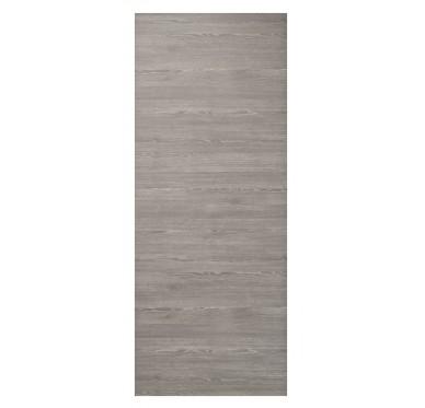 Porte seule intérieure mélaminé gris-orme 204x72 cm