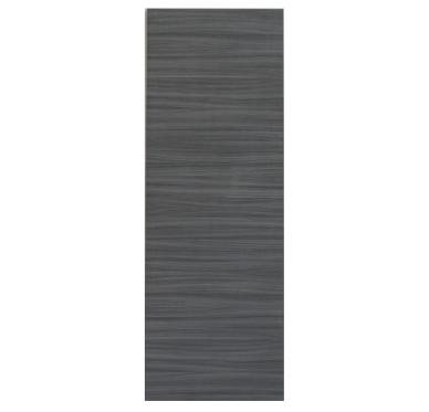 Porte seule intérieure mélaminé noir-ébène 204x72 cm