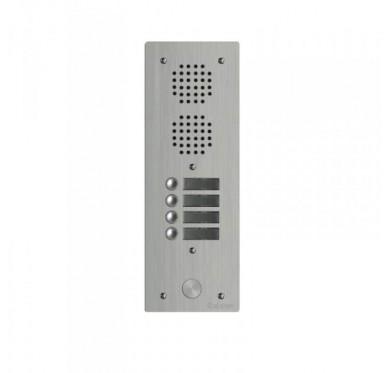 Platine Audio Aluminium Haut Risque 4 boutons