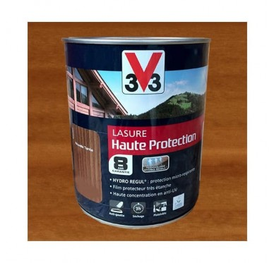 V33 Lasure Haute protection 8 ans, 1L, Chêne doré Satin