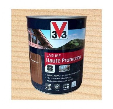V33 Lasure Haute protection 8 ans, 1L, Incolore Satin