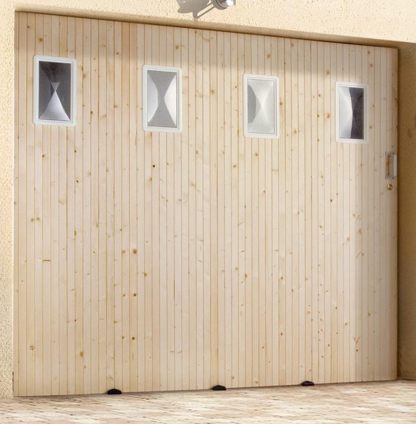 Porte De Garage Coulissante Avec Hublots H200xl300cm