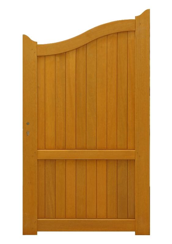 Portillon bois exotique plein H160-180xL100cm