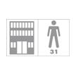 Passage commercial modéré, zone de faible passage, chambres d'hôtel, bureaux
