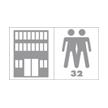 Passage commercial général, zone de passage moyen, salles de réunions, bureaux