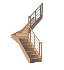 escalier bois inox droit colima on h lico dal pas cher. Black Bedroom Furniture Sets. Home Design Ideas
