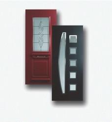 porte entree exterieur bois pvc