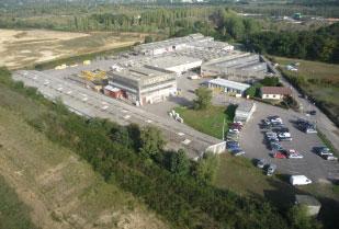 Vue aérienne du site de Gaillon